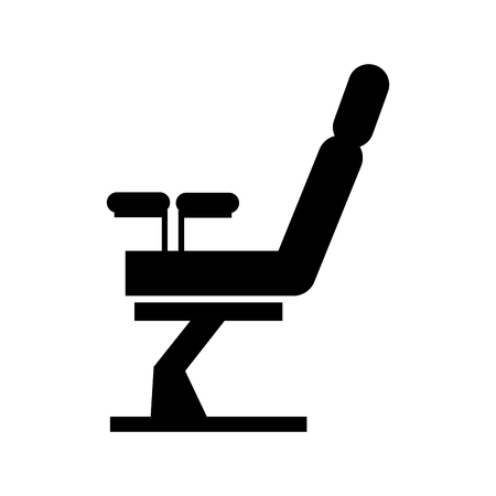 Gynecological chair isolated icon vector illustration design Çizim