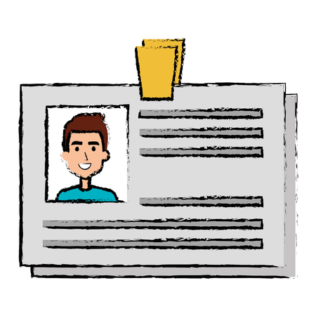ID document card icon vector illustration design