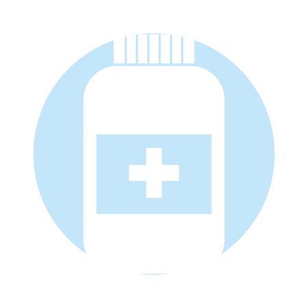 ボトル薬単離アイコンベクトルイラストデザイン