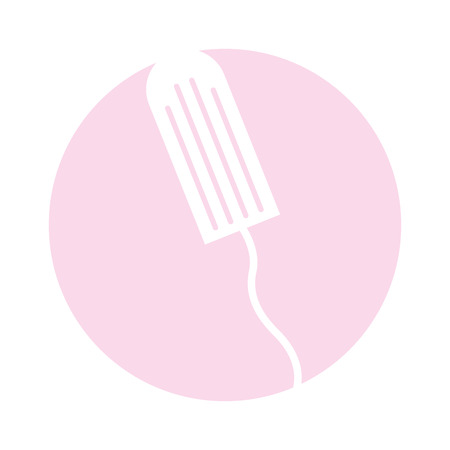 tampon female isolated icon vector illustration design