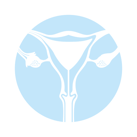 Female reproductive organ icon vector illustration design Ilustração