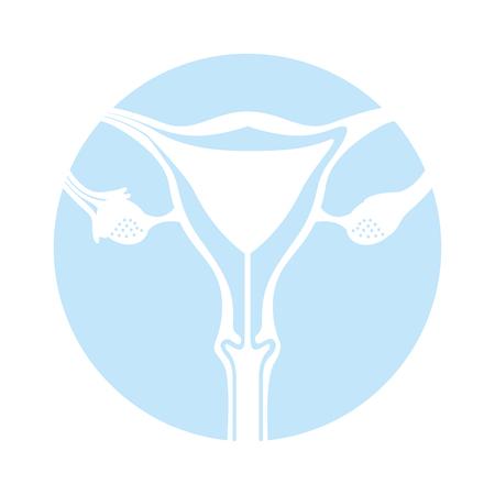 Female reproductive organ icon vector illustration design Illustration