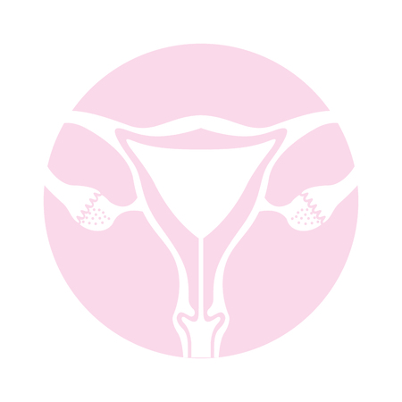 Female reproductive organ icon vector illustration design Illusztráció