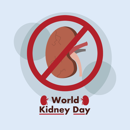 World kidney day promoting care healthy poster
