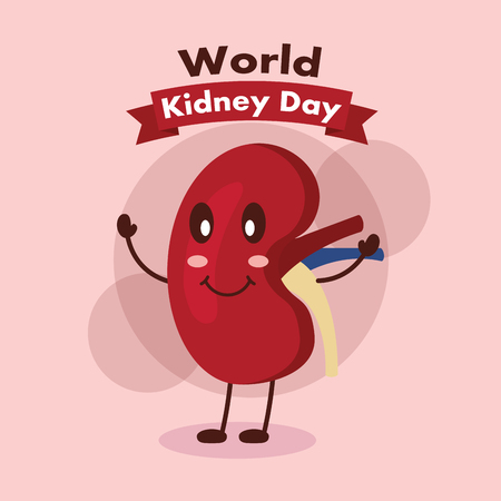 world kidney day poster human part human care vector illustration