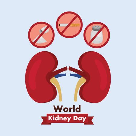 世界腎臓デーヘルスケア医療キャンペーンポスターベクトルイラスト 写真素材 - 94974515