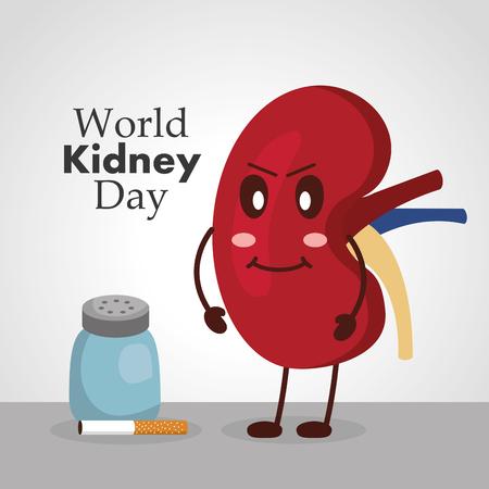 World kidney day poster Illustration