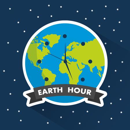 Earth hour clock world