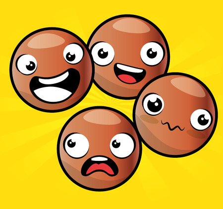 emoji emoticon character collection vector illustration graphic design