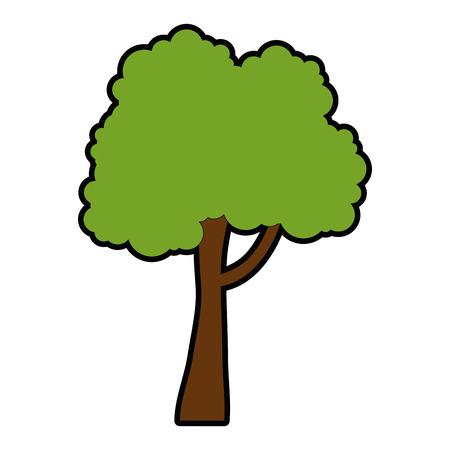 나무 공장 격리 아이콘 벡터 일러스트 디자인