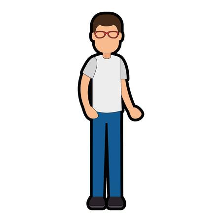 Young man avatar character vector illustration design Ilustração