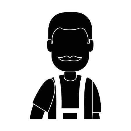 Man gardener with overalls avatar character vector illustration design 向量圖像