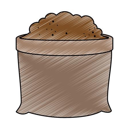ground bag isolated icon vector illustration design Иллюстрация