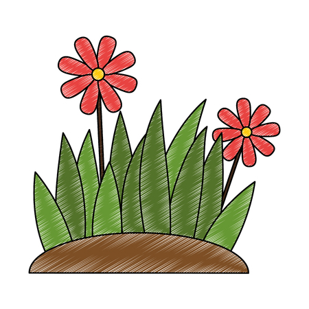 Beautiful flower cultivated icon vector illustration design.  イラスト・ベクター素材