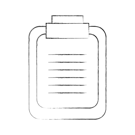 paper clipboard isolated icon vector illustration design Stock Vector - 94990937