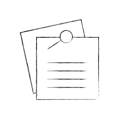herinnering notities met metalen pin vector illustratie ontwerp