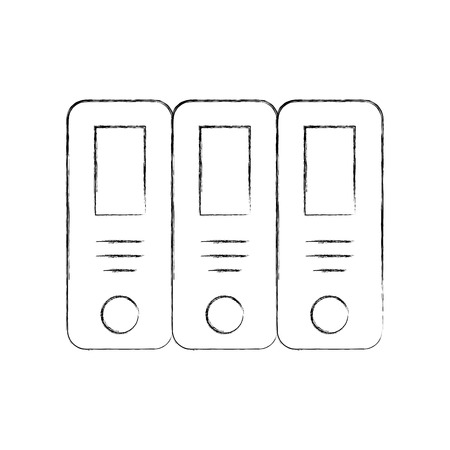 office files isolated icon vector illustration design