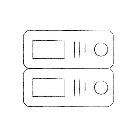 オフィスファイル分離アイコンベクトルイラストデザイン  イラスト・ベクター素材