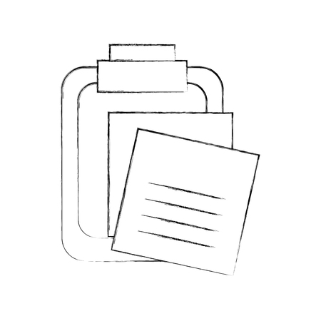 clipboard with reminder notes isolated icon vector illustration design