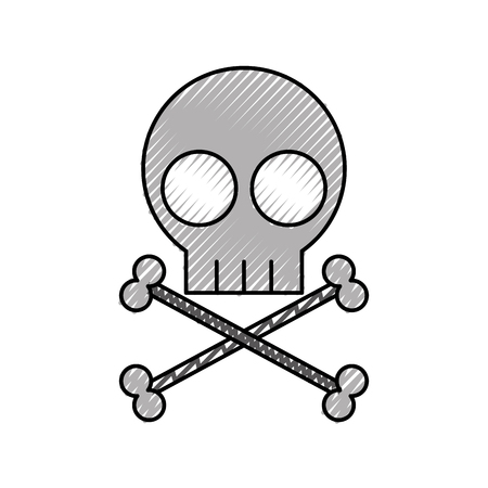 skull danger sign icon vector illustration design Stock fotó - 94983507