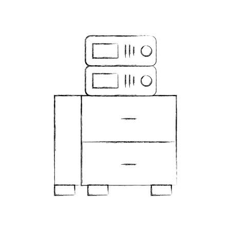 Cassetto dell'ufficio con progettazione dell'illustrazione di vettore dei libri di archivio Archivio Fotografico - 94983108