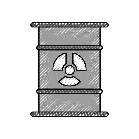 nuclear barrel isolated icon vector illustration design Reklamní fotografie - 94983297