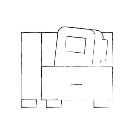 Cassetto dell'ufficio con progettazione dell'illustrazione di vettore della cartella Archivio Fotografico - 94983530