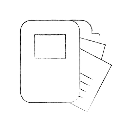 folder documents isolated icon vector illustration design Ilustração