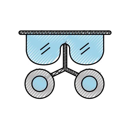 Laboratorium bril geïsoleerd pictogram vector illustratie ontwerp Stock Illustratie