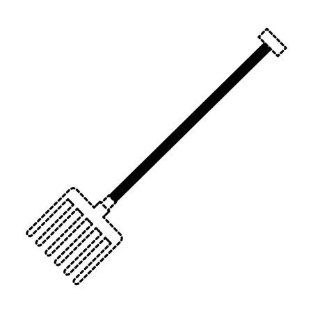 gardening rake isolated icon vector illustration design Ilustrace