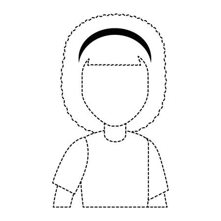 beautiful woman avatar character vector illustration design Stok Fotoğraf - 94985091