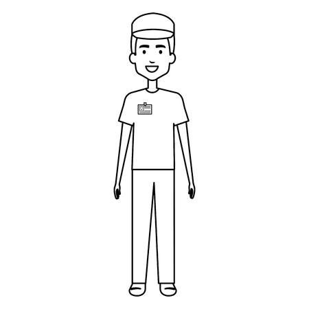 Trabajador de carácter avatar carácter vector ilustración diseño Foto de archivo - 95055865