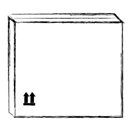 delivery carton box icon vector illustration design  イラスト・ベクター素材