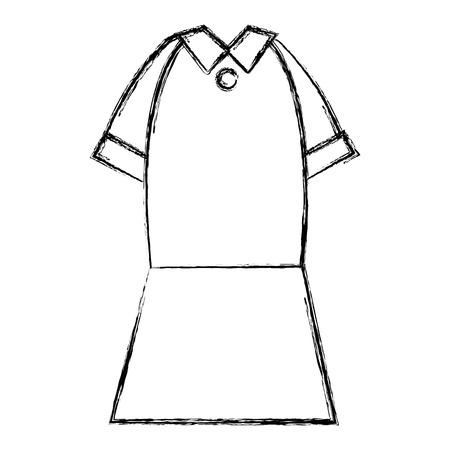 elegant femenine costume icon vector illustration design Ilustração