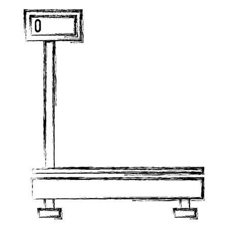 delivery service scale icon vector illustration design