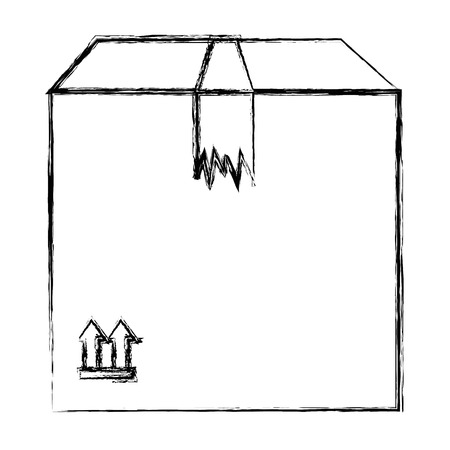 delivery carton box icon vector illustration design Иллюстрация