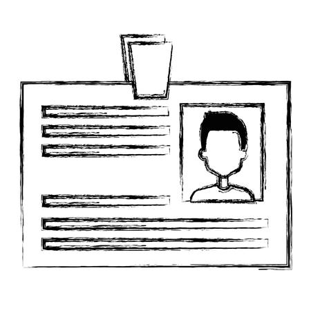 id document card icon vector illustration design Illustration