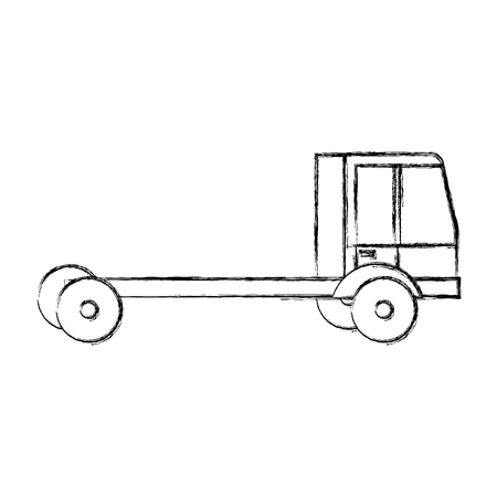 delivery truck vehicle icon vector illustration design Illustration