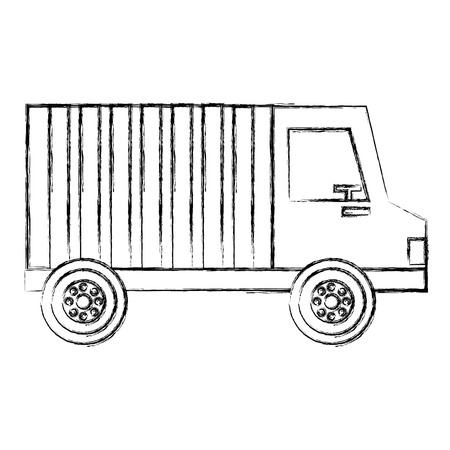 delivery truck vehicle icon vector illustration design Ilustração