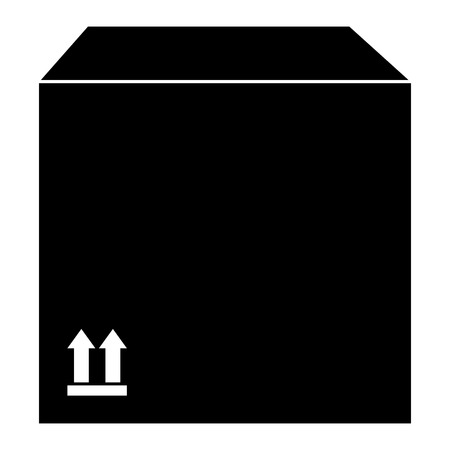 delivery carton box icon vector illustration design 向量圖像