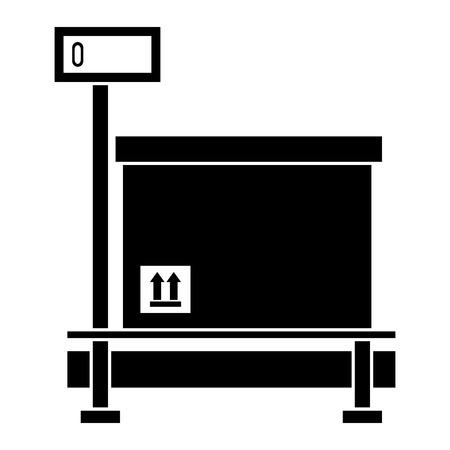 ボックスベクトルイラスト設計付き配送サービススケール