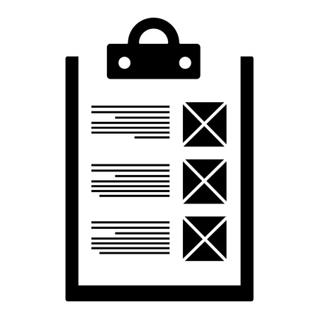checklist document isolated icon vector illustration design Reklamní fotografie - 95141106