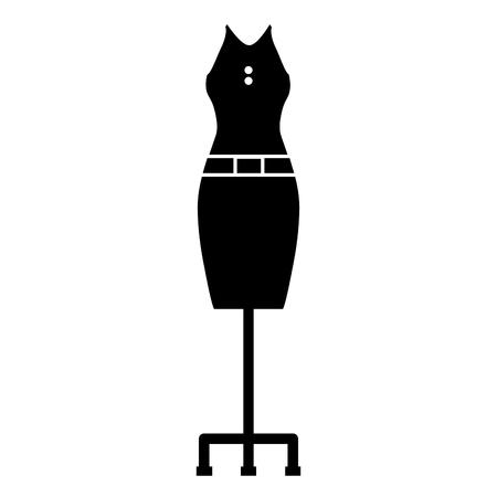 エレガントなフェメニンコスチュームアイコンベクトルイラストデザイン