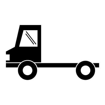 delivery truck vehicle icon vector illustration design Illustration
