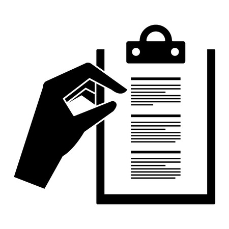 hands with checklist document isolated icon vector illustration design