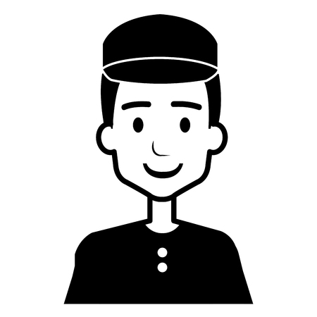 delivery worker avatar character vector illustration design Foto de archivo - 95315162
