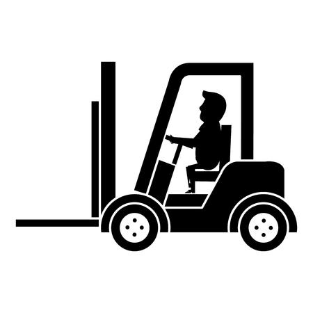 forklift vehicle with driver vector illustration design Zdjęcie Seryjne - 95315486