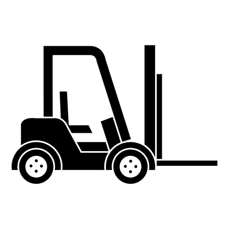 forklift vehicle isolated icon vector illustration design Vettoriali