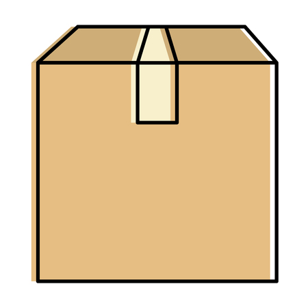 Delivery carton box icon vector illustration design