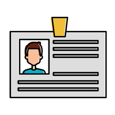 ID document card icon vector illustration design Stock fotó - 95045299